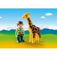 9380 - Ošetrovateľ zvierat so žirafou 1.2.3