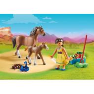 70122 - Pru s koňom a žriebätom